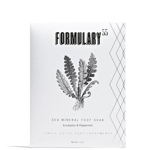 Sea Mineral Foot Soak 1.5 oz Envelope by Formulary 55 at Petit Vour