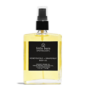 Honeysuckle + Grapefruit Body Oil 4 oz | 118 mL by Little Barn Apothecary at Petit Vour