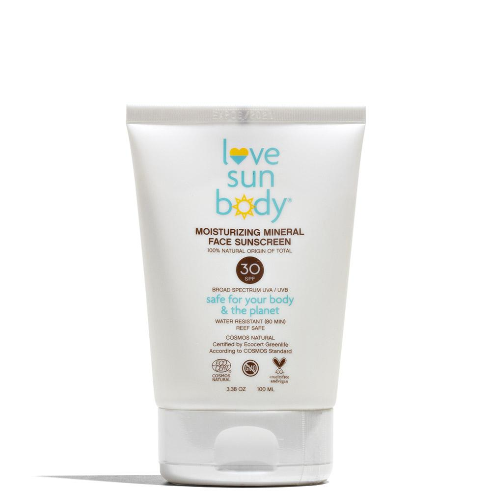 Moisturizing Mineral Face Sunscreen SPF 30 100 mL by Love Sun Body at Petit Vour