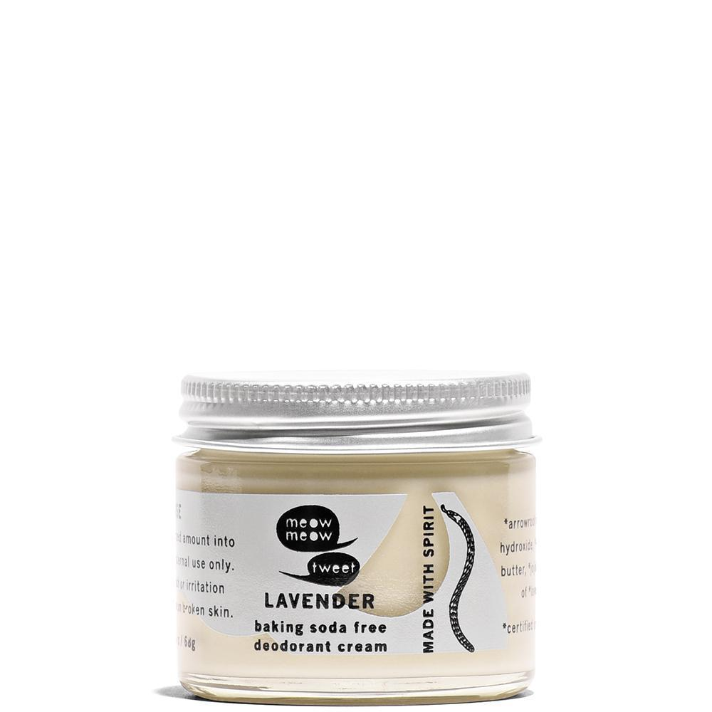 Lavender Baking Soda Free Deodorant Cream  by Meow Meow Tweet at Petit Vour