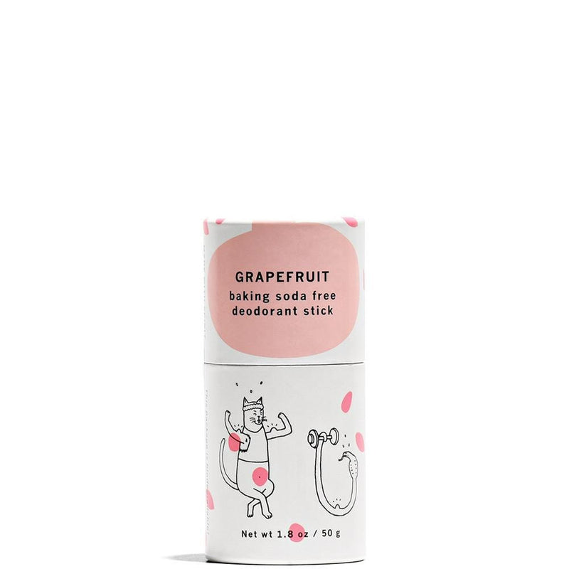 Grapefruit Baking Soda Free Deodorant Stick 1.8 oz by Meow Meow Tweet at Petit Vour