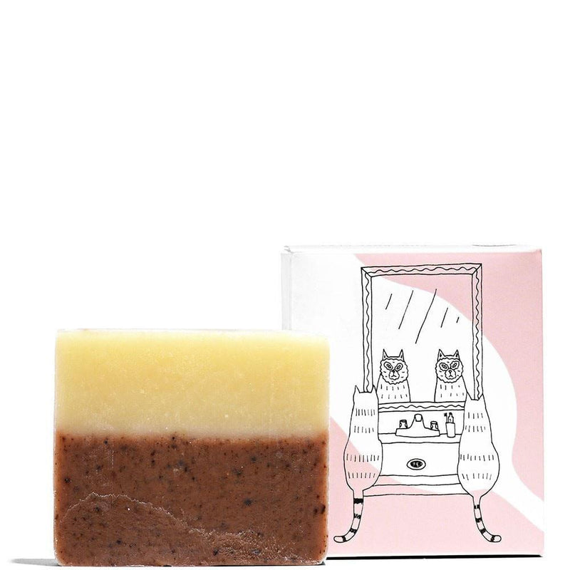 Meow Meow Tweet Facial Bar Soap Pink Rose Clay