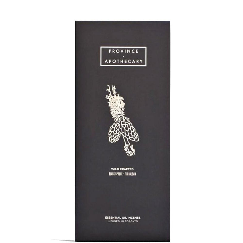 Black Spruce + Fir Balsam Essential Oil Incense  by Province Apothecary at Petit Vour