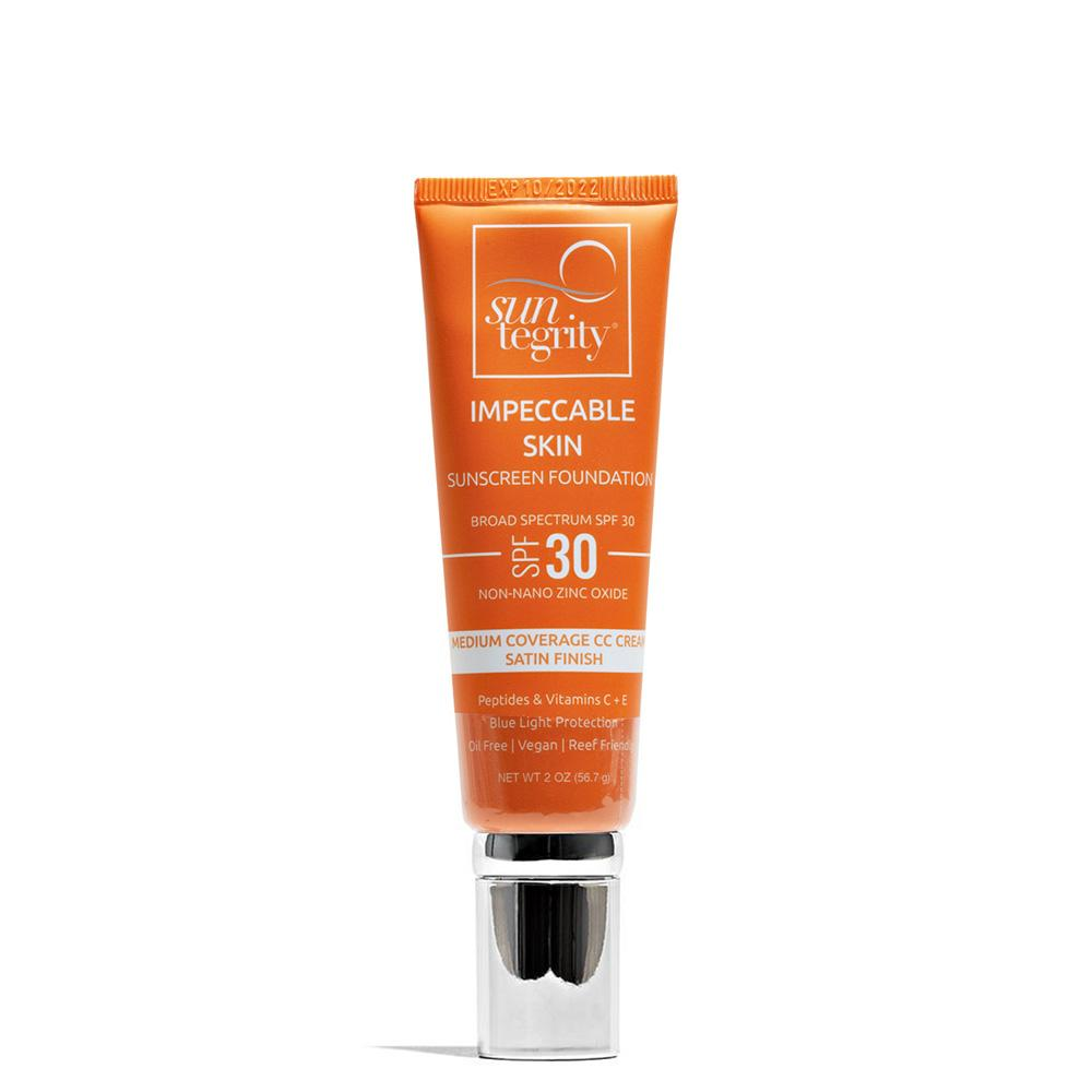 Impeccable Skin Moisturizing Face Sunscreen - Tinted SPF 30 2 oz / 01 Ivory by Suntegrity at Petit Vour