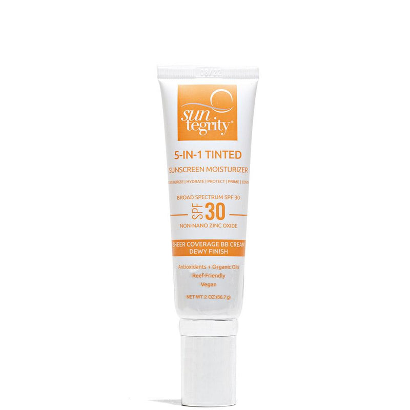 5 In 1 Face Sunscreen - Tinted - SPF 30  by Suntegrity at Petit Vour