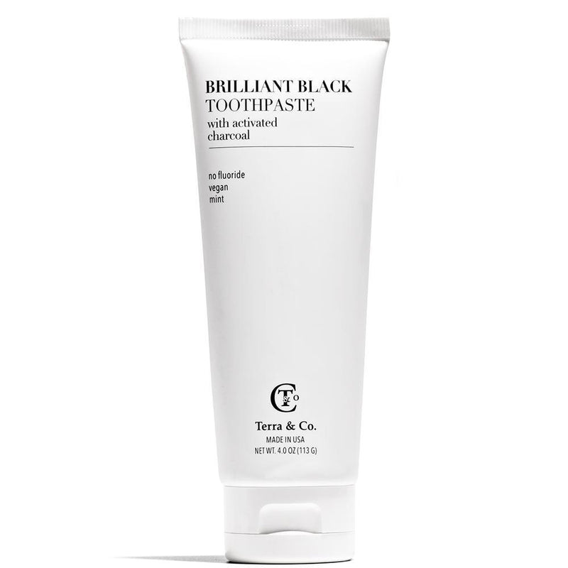 Brilliant Black Toothpaste 4 oz by Terra & Co. at Petit Vour