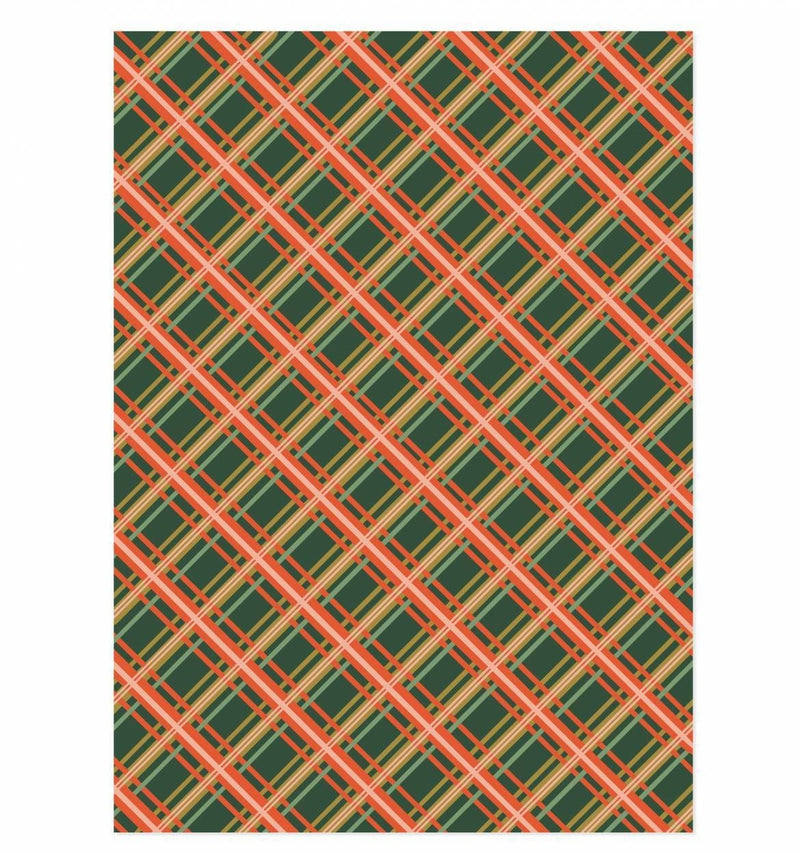 Holiday Gift Wrapping Sheets Holiday Plaid by Rifle Paper Co. at Petit Vour