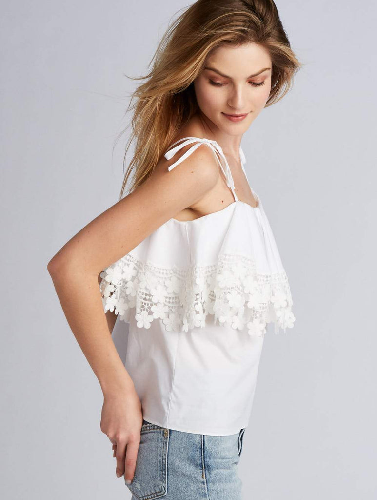 Amanda Uprichard Fifer Top White