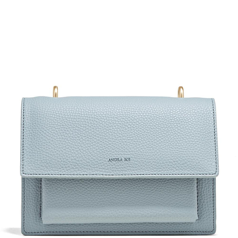 Angela Roi Eloise Satchel Light Nude Blue