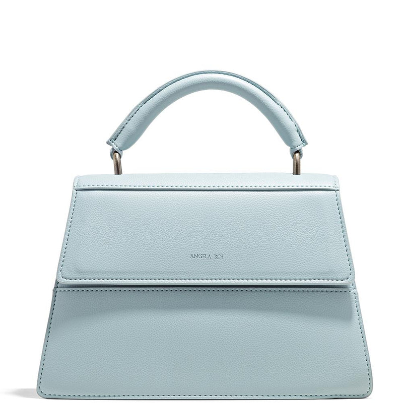 Angela Roi Hamilton Satchel Light Nude Blue