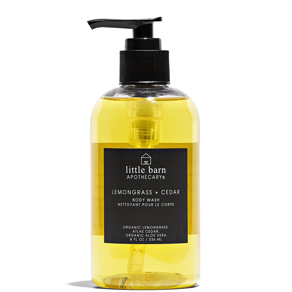 Lemongrass + Cedar Body Wash  by Little Barn Apothecary at Petit Vour