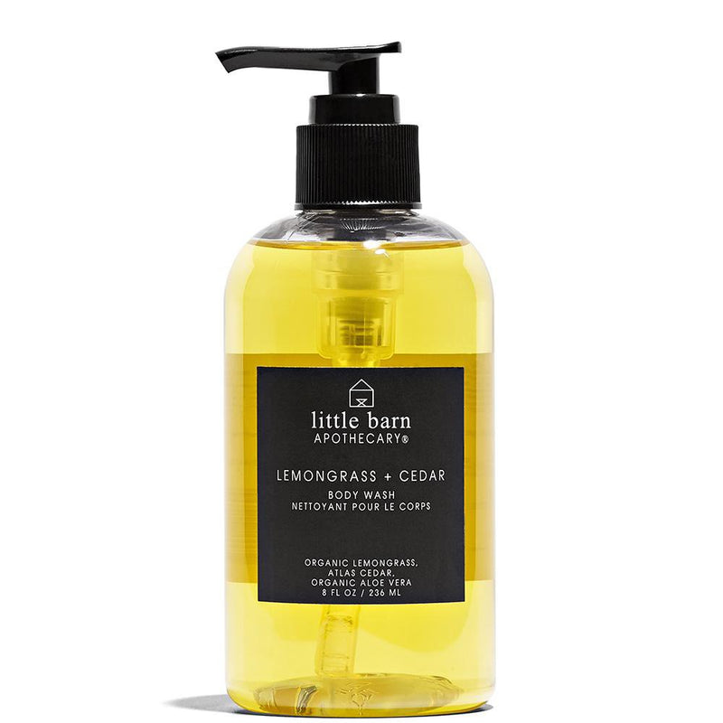 Little Barn Apothecary Lemongrass + Cedar Body Wash
