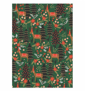 Holiday Gift Wrapping Sheets Reindeer by Rifle Paper Co. at Petit Vour