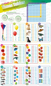 DKfindout! Times Tables Poster-9780241295816