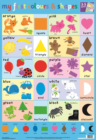Colours and Shapes Wall Chart-9781859974261