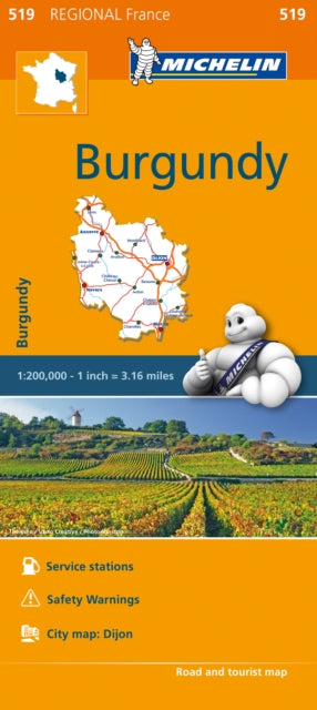 Burgundy (Bourgogne) Map 519 : Michelin Regional Maps: France-9782067209190