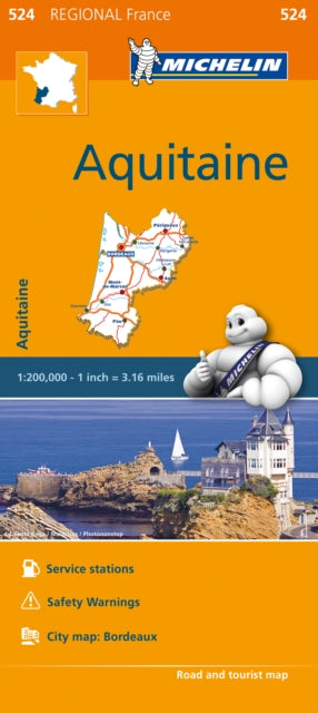 Aquitaine Map 524 : Michelin Regional Maps: France-9782067209343