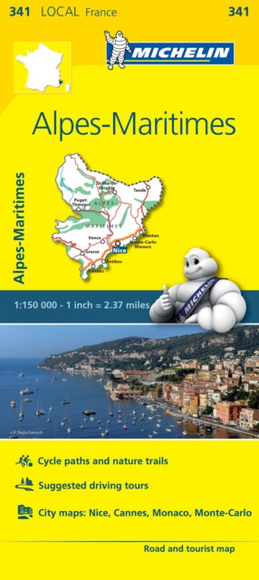 Alpes-Maritimes, France Local Map 341-9782067210714