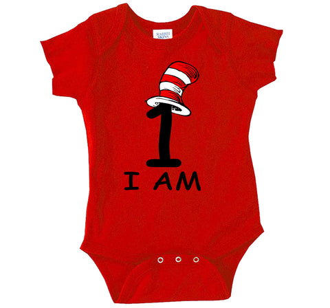 Thing 1 I Am - Thing Birthday Outfit, Baby 1st Birthday Outfit