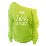 5 Seconds Of Summer Irwin Hood Clifford Hemmings Off Shoulder Oversized Slouchy Sweatshirt