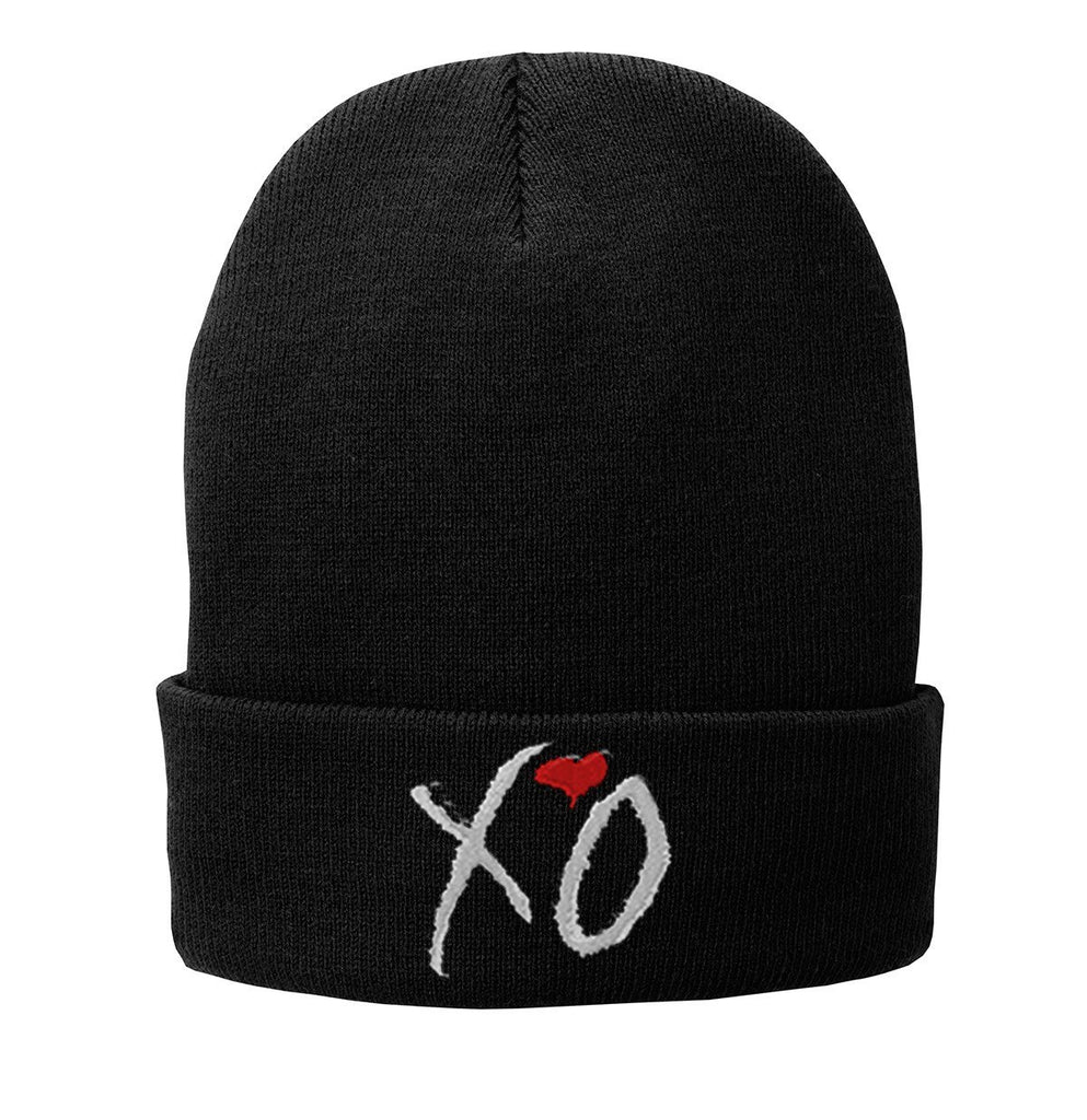 XO the weeknd Embroidered Beanie Fleece-Lined Knit Cap - SenseOfCustom - 1