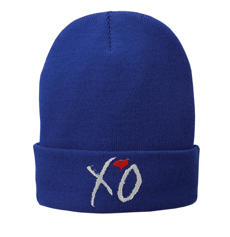 XO the weeknd Embroidered Beanie Fleece-Lined Knit Cap - SenseOfCustom - 6