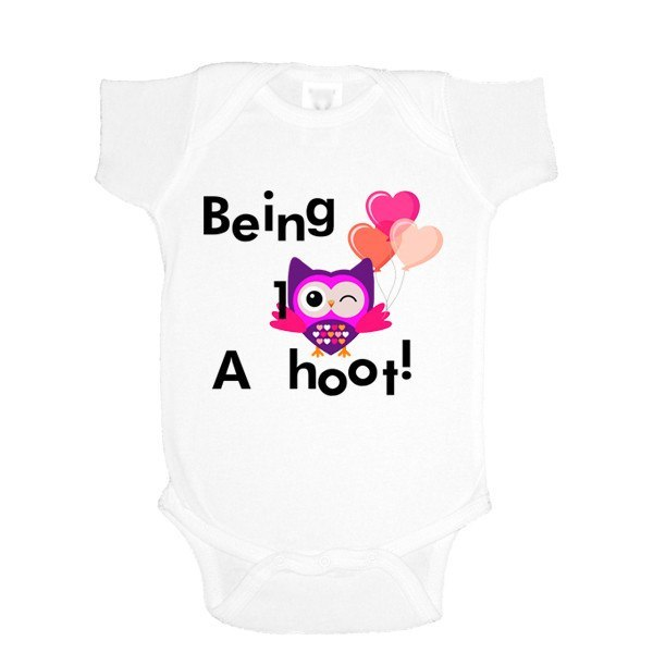 Being 1 Is a Hoot One Piece Bodysuit - SenseOfCustom