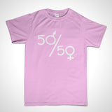 50/50 Womens Equality Feminist T-Shirt Supporting Feminism