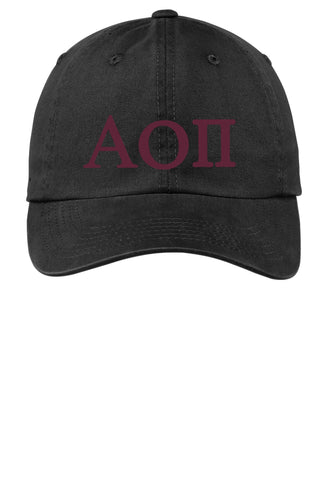 AOII / Alpha Omicron Pi / Choose Your Colors / Sorority Cap - SenseOfCustom
