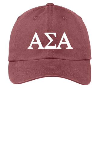 ASA / Alpha Sigma Alpha / Choose Your Colors / Sorority Cap - SenseOfCustom