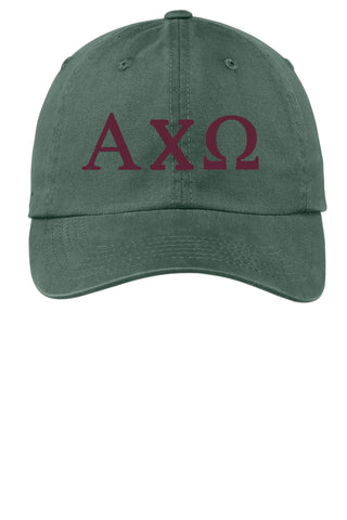 AXO/ Alpha Chi Omega / Choose Your Colors / Sorority Cap - SenseOfCustom