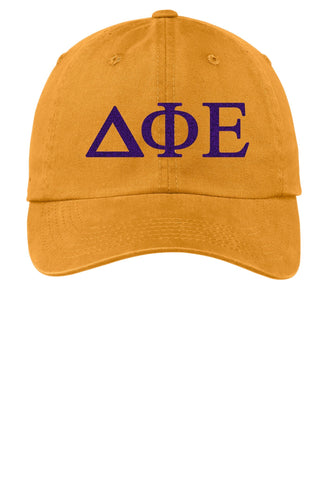 DPhiE / Delta Phi Epsilon / Choose Your Colors / Sorority Cap - SenseOfCustom