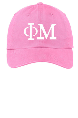 Phi Mu // Choose Your Colors // Sorority Cap - SenseOfCustom
