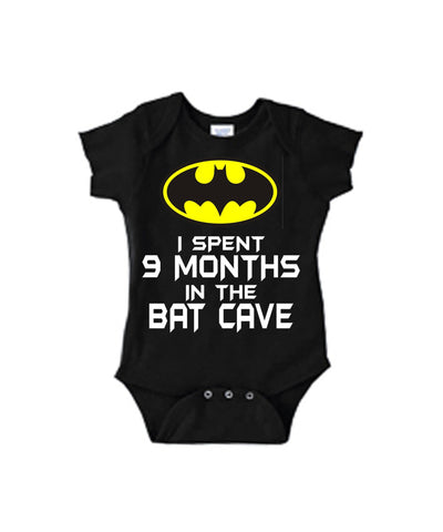 I Spent 9 Months In The Bat Cave Batman One Piece Bodysuit - SenseOfCustom - 1