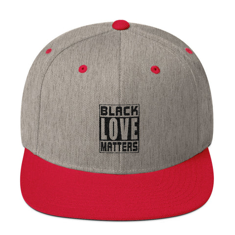Black Love Matters Wool Blend Snapback
