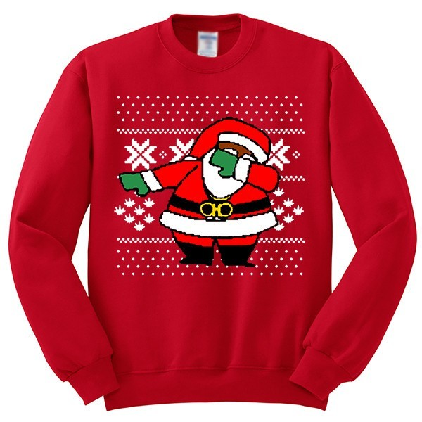 dabbing santa claus ugly christmas sweater youth crewneck sweatshirt senseofcustom