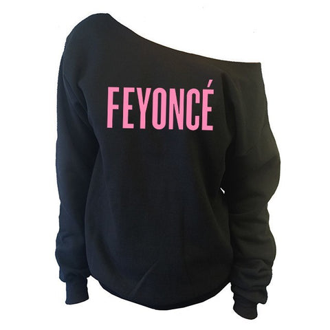 FEYONCE' Off-The-Shoulder Wide Neck Slouchy Sweatshirt - SenseOfCustom - 1