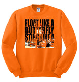 Float Like A Butterfly, Sting Like A Bee Muhammad Ali Crewneck Sweatshirt - SenseOfCustom - 6