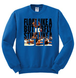 Float Like A Butterfly, Sting Like A Bee Muhammad Ali Crewneck Sweatshirt - SenseOfCustom - 7