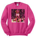 Float Like A Butterfly, Sting Like A Bee Muhammad Ali Crewneck Sweatshirt - SenseOfCustom - 9