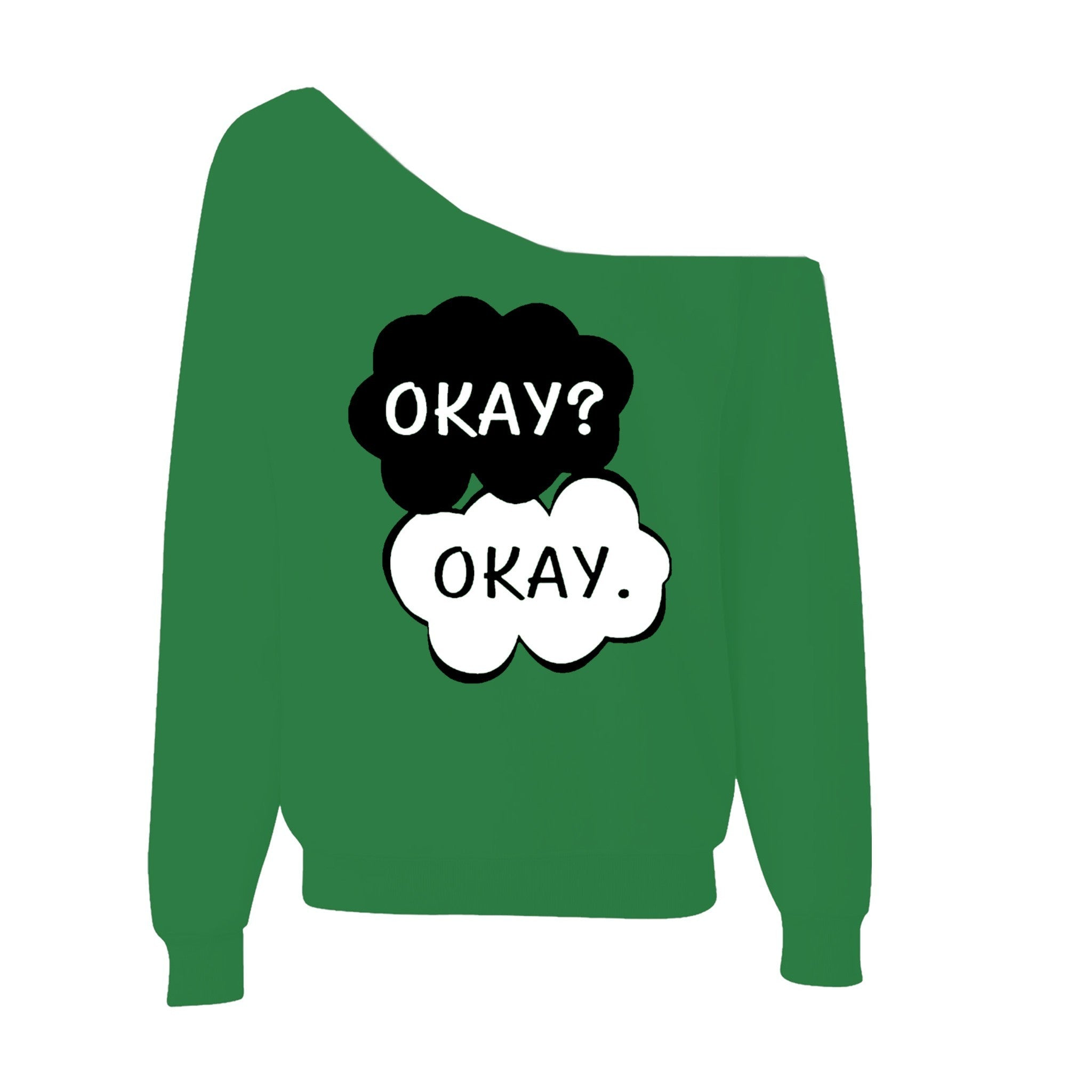 90a428b40 Okay Okay The Fault In Our Stars Off-Shoulder Wide Neck Slouchy ...