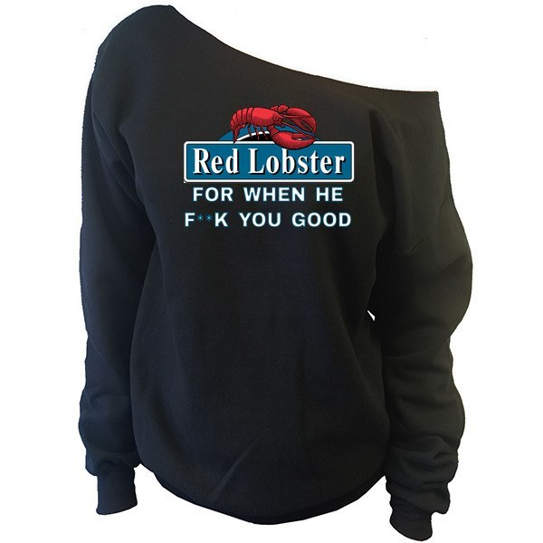 Red Lobster Slouchy Sweatshirt - SenseOfCustom - 1