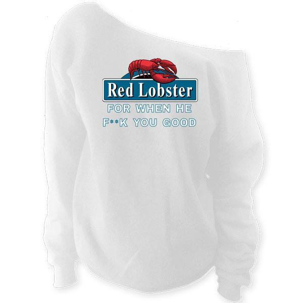 Red Lobster Slouchy Sweatshirt - SenseOfCustom - 2