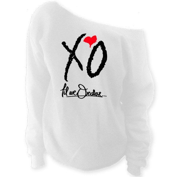 XO Til We Overdose... The Weeknd Off-The-Shoulder Oversized Slouchy Sweatshirt - SenseOfCustom - 2
