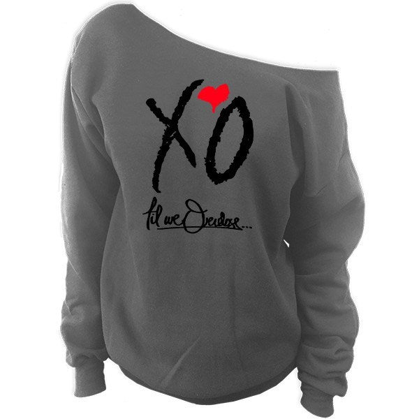 XO Til We Overdose... The Weeknd Off-The-Shoulder Oversized Slouchy Sweatshirt - SenseOfCustom - 3