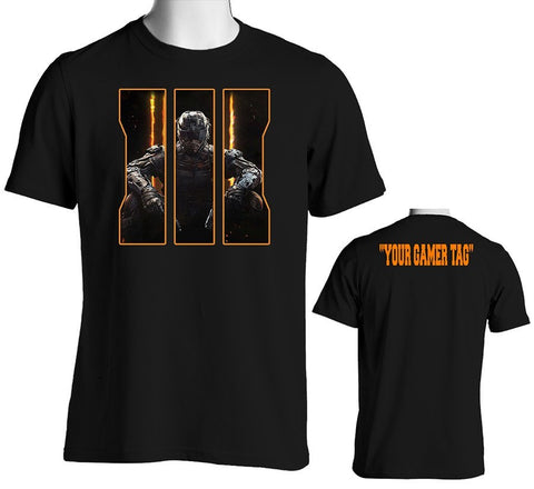 Call Of Duty Black Ops 3 T-Shirt with Custom Gamer Tag on the back! - SenseOfCustom