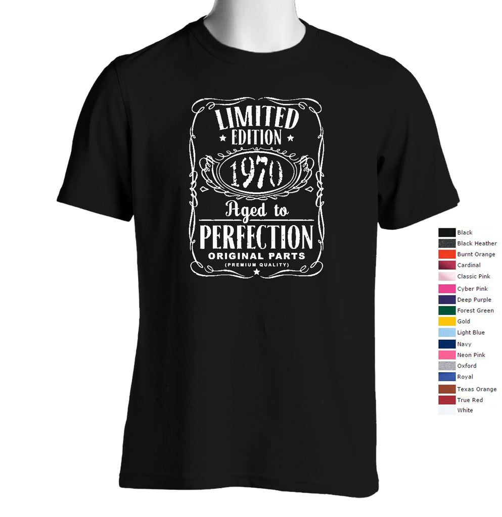 Vintage Aged To Perfection 1970 T-Shirt (We Can Customize Year to Whatever You Need) - SenseOfCustom