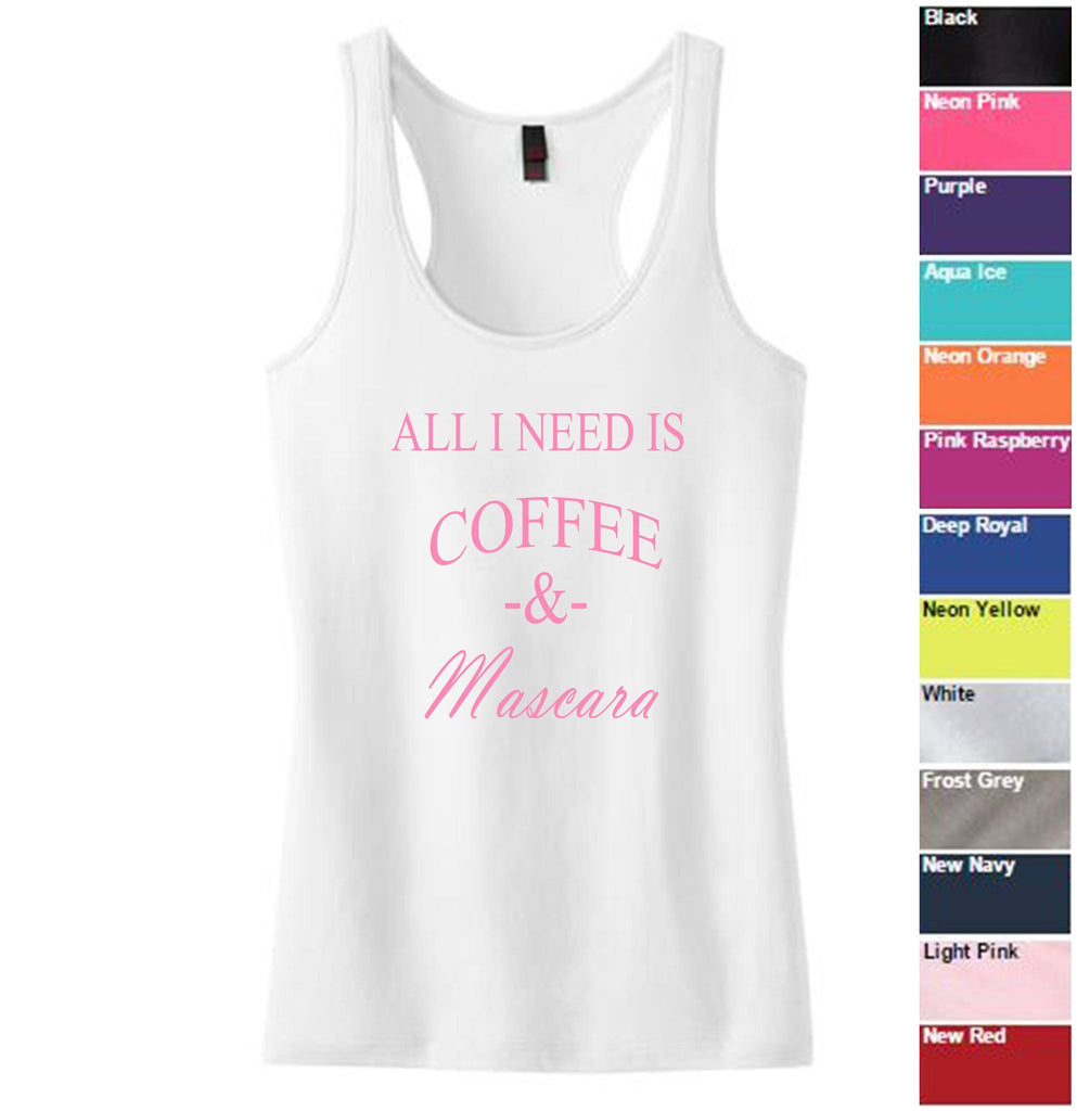 Coffee and Mascara Racerback Tank - SenseOfCustom - 2