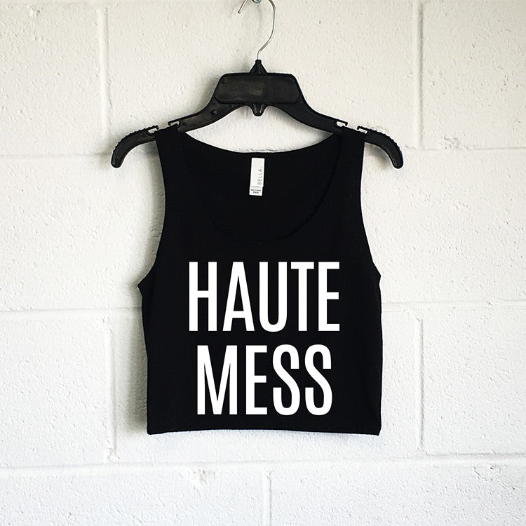 Tanks (Women) - Haute Mess Crop Tank