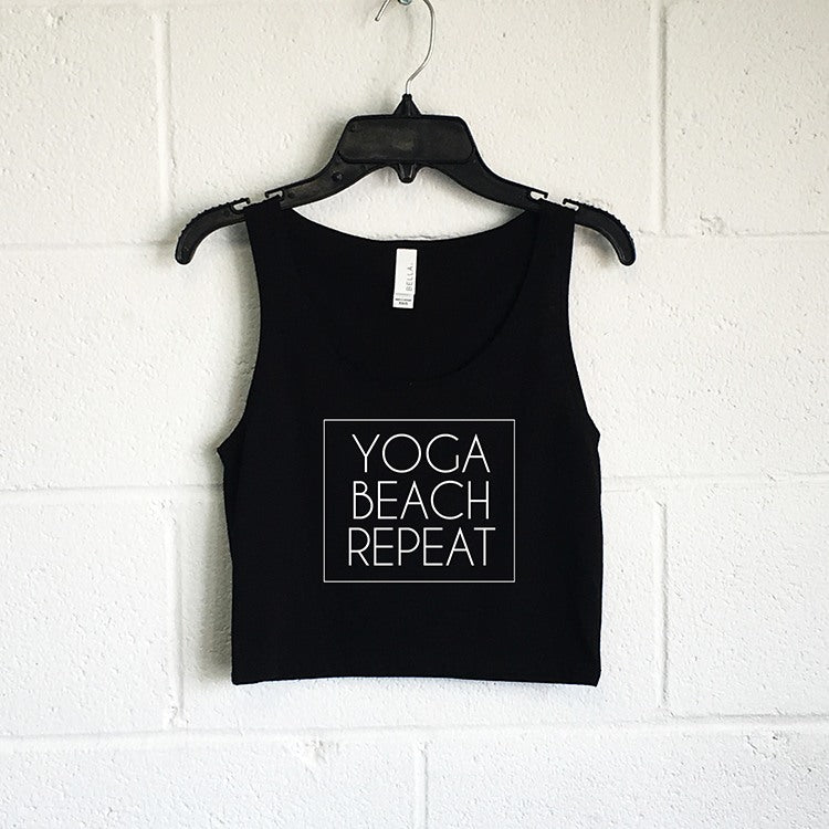 Tanks (Women) - Yoga Beach Repeat Crop Tank